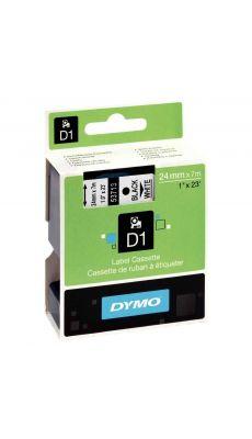 Dymo - 53713 - Ruban cassette - 24mm x 7m - Noir sur Blanc