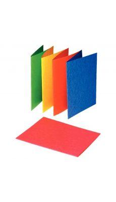 Exacompta - 220000E - Chemise rigide carte lustrée 225g assorti - Format 24x32cm - Paquet de 25