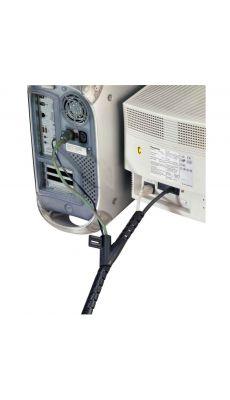 Fellowes - 99439 - Gestionnaire de câbles Cable zip - 2 mètres