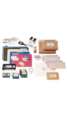 Dymo - 11355 - Etiquette multi-usage adhésif semi-permanent - 19x51 mm - 1 Rouleau de 500