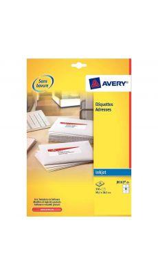 Avery - J8161-25 - Etiquette jet d'encre 63,5x46,6mm - Paquet de 450