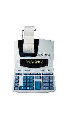 Ibico - 1231X - Calculatrice imprimante de bureau - 12 chiffres
