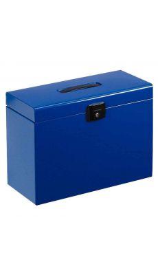 Valise metal 5 dossier suspendu bleu