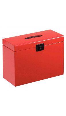 Valise metal 5 dossier suspendu rouge