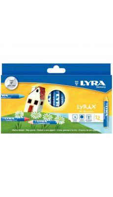 LYRA - 790K12 - Craie a la cire triangulaire d.14mm - etui de 12