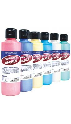 Peinture nacree assorti - coffret 6 flacons 250ml