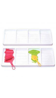 LOCAU - 5909.04 - Maxi palette 4 compartiments plastique blanc