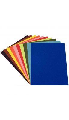 Papier dessin couleur assorti 21x29,7 120g - Paquet de 100