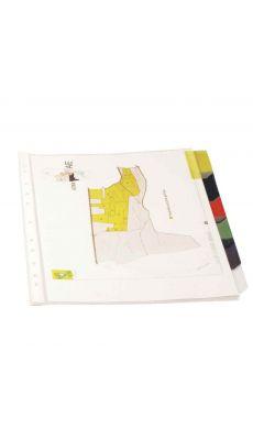 Pochettes intercalaires polypropylène onglet couleurs - jeu de 6