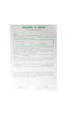 Exacompta - 82593 P - Engagement de caution - liasse de 2 exemplaires