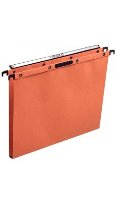 L'OBLIQUE - 300901 - Dossier suspendu Velcro pour tiroir - Dos 15 mm - Kraft Orange - Paquet de 25