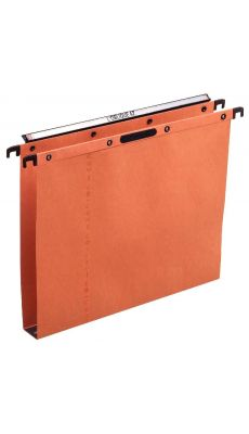 L'OBLIQUE - 300902 - Dossier suspendu Velcro pour tiroir - Dos 30 mm - Kraft Orange - Paquet de 25