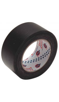 Rouleau adhesif toile 50x25m noir