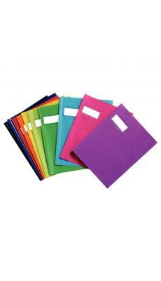 Protege cahier standard opaque 24x32 bleu roi