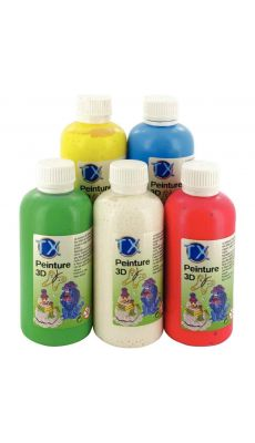 Peinture 3d assortis - Lot de 5 flacons de 250ml