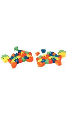 Puzzle tortue 3d lettre + chiffres