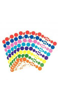 Gommette adhesive ronde d4mm assortie - pochette de 640