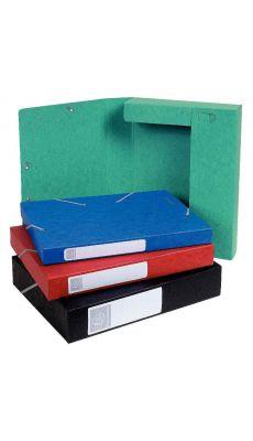 Exacompta - 185 ASS - Boîte de classement Cartobox dos 30mm - Couleurs assorties