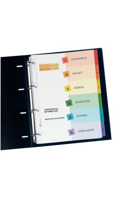 Intercalaires Avery personalisables ready index A4+ - jeu de 6