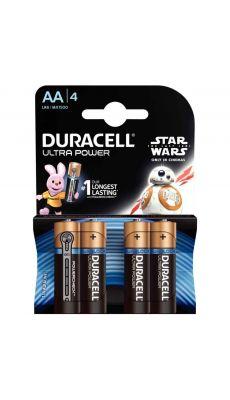 Duracell - 400256 - Pile alcaline 1.5V ultra power - LR6 AA - Blister de 4 piles