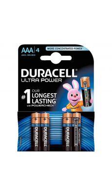 Duracell - 09975 - Pile alcaline 1.5V ultra power - LR03 AAA - Blister de 4 piles