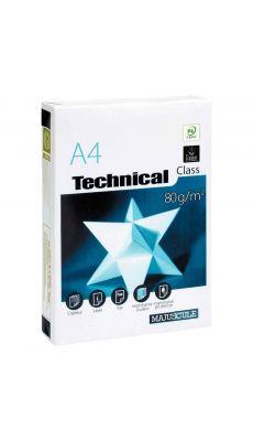Ramette papier A4 Technical 80g - Blanc