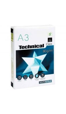 Ramette papier A3 Technical 80g - Blanc