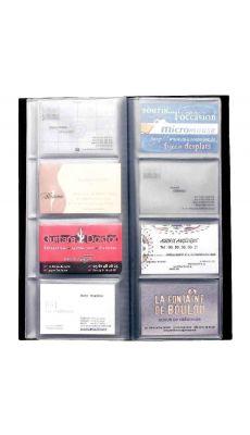 ALBA - CLASS80 - Porte-cartes de visite PVC Capacité 80 cartes noir