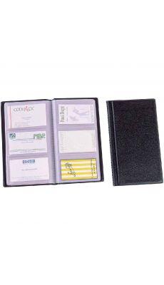 ALBA - CLASS120 - Porte-cartes de visite PVC Capacité 120 cartes noir
