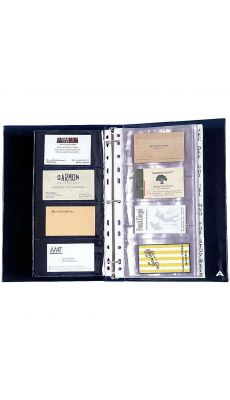 ALBA - CLASS160 - Porte-cartes de visite PVC Capacité 160 cartes noir