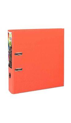 Exacompta - 53344E - Classeur à levier plastique A4+ - Dos 8 cm - Orange