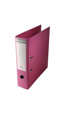 Exacompta - 53384E - Classeur à levier plastique A4+ - Dos 8 cm - Couleur pastel