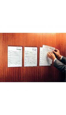 TARIFOLD - Poches kang pvc repositionnables A4 - sachet de 5