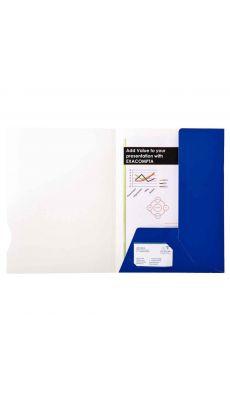 Exacompta - 700 BLEU - Chemise de présentation CHROMOLUX blue 24x32cm - Paquet de 20