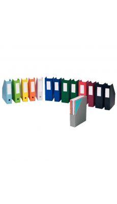 L'OBLIQUE - 100725783 - Boite de classement PVC à pan coupé - Dos 10cm - Noir