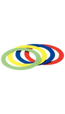 Anneaux jonglage assorti - set de 12 pieces