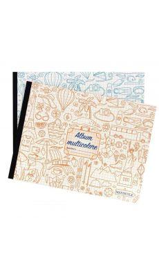 Cahier album dessin 24x32 a l'italienne multicolore 48p