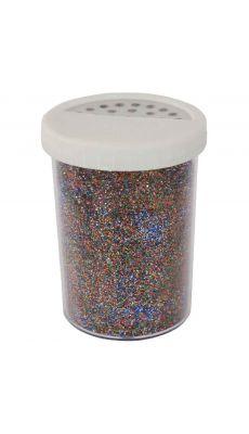 Saliere 100g de poudre scintillante coloris multicolore