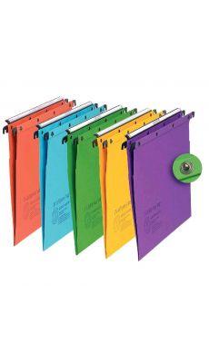 L'OBLIQUE - 200035 - Dossier suspendu L'oblique azo/tiroir en v couleur assorti - Paquet de 10