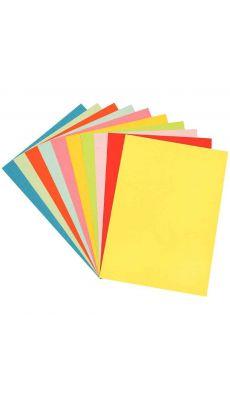 Papier dessin couleur 160g 50x65 assorti - Paquet de 100