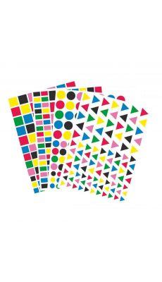 Gommette geometrique vif - pochette de 4400
