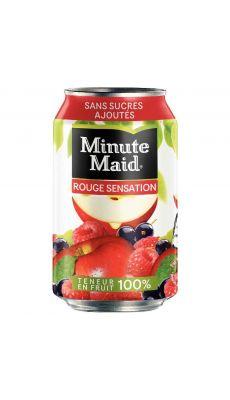 MINUTE MAID - 013759 - Canette 33cl minute maid cocktail jus fruits rouges - pack de 24