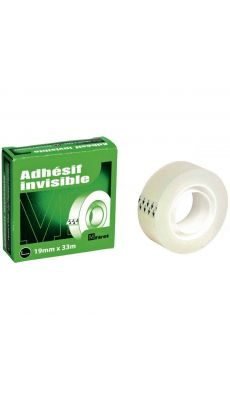 First - 61092 - Rouleau adhesif invisble 19x33 mm