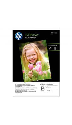 HP - Q2510A - Papier photo semi glacé 200g - A4 - Paquet de 100 feuilles