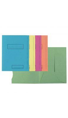 Exacompta - 335000E - Chemise en peau pré-imprimée 210g assorti - Format 24x32cm - Paquet de 50
