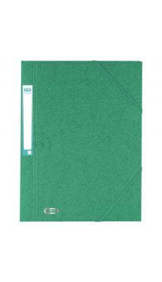 L'OBLIQUE - 100200802 - Chemise 3 rabats à elastique + etiquette grain7/10 vert