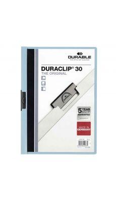 Durable - 2200-06 - Chemise de présentation Duraclip A4 - Dos 3mm - Bleu clair