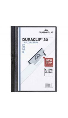 Durable - 2200 01 - Chemise de présentation Duraclip A4 - Dos 3mm - Noir