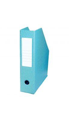 L'OBLIQUE - 400080228 - Boite de classement en PVC à pan coupé - dos 7 cm - Bleu Turquoise