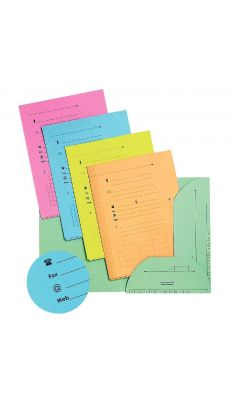 L'OBLIQUE - 100550 - Chemise hv pour dossier suspendu assorti pastel - Paquet de 25